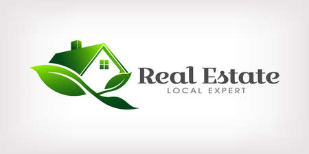Real Estate Eco house Logo Illustration