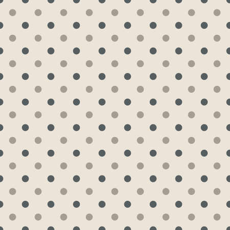 Seamless pattern with polka dots in two colors green and gray - colors Illustration Çizim