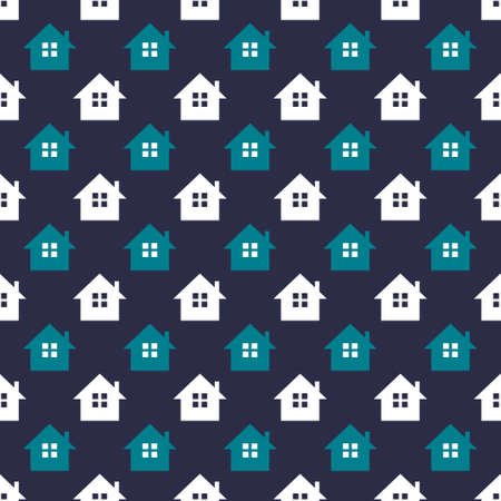 Seamless pattern background with houses. Stok Fotoğraf