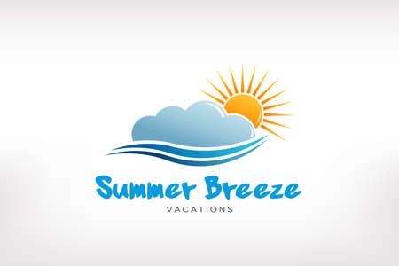 Summer Breeze wave. Logo design Çizim