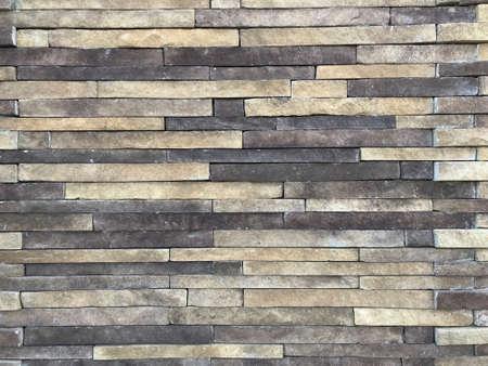Colorful stripes of Limestone stone wall. Photo image Stok Fotoğraf