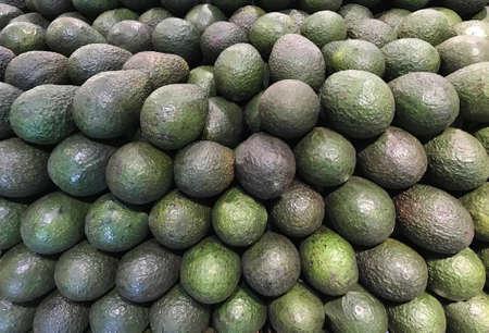 Fresh Green Avocados. Photo image Stok Fotoğraf