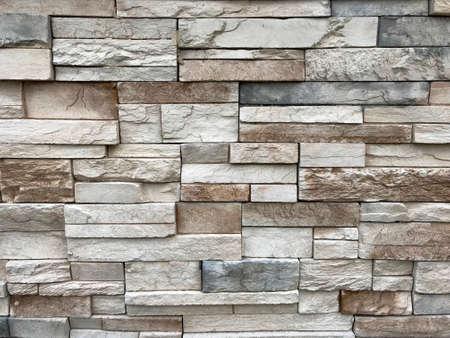 Stone Wall Detail. Limestone Pattern. Photo image