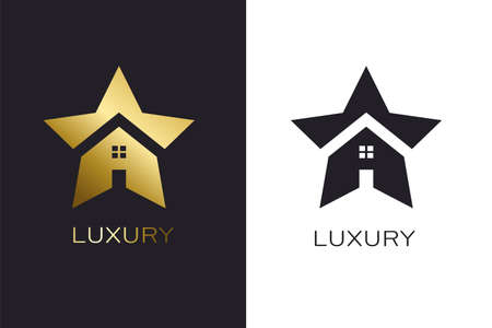 Real Estate House Star Luxury Logo for Business
