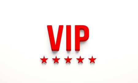 VIP card pass. 3D Render illustration