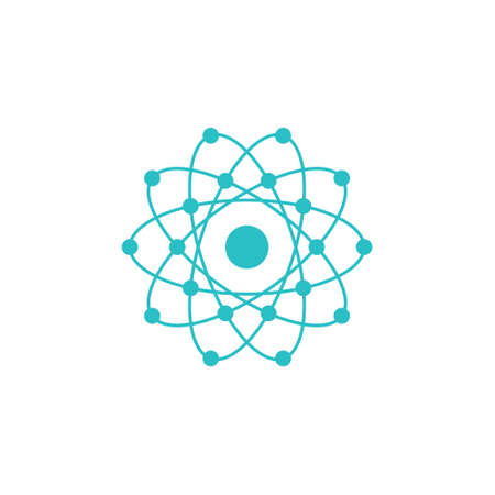 Atom global with electrons. vector design Stock Illustratie
