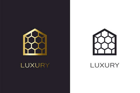 Beehive House Logo creation cconcept. Real estate image