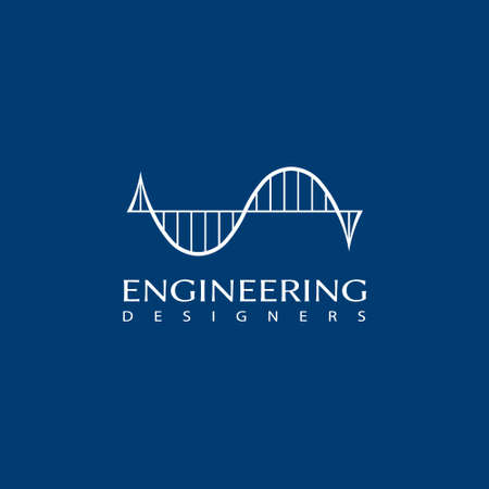 Structural engineering graphic for bending moment Stock Illustratie