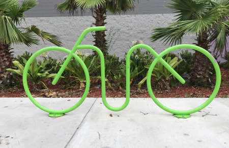 Bicycle structure for bicycle parking - bicycle parking rack for public use. Photo image Reklamní fotografie