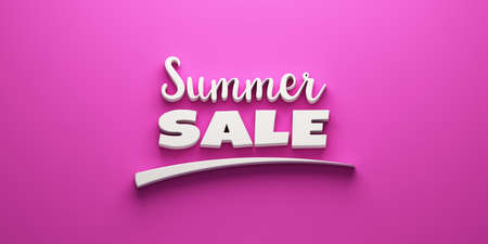 Sumer sale banner concept with mark. 3D Rendering Illustration