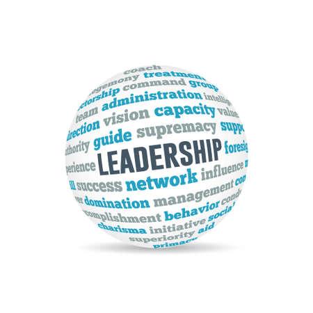 Leadership Sphere Concept Wordcloud Vector design