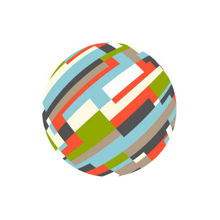 Abstract rectangular sphere. Logo vector Ilustrace