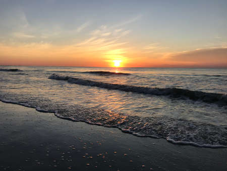 Sunset in Cocoa Beach Florida. Photo image