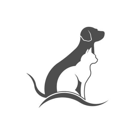Pet care logo. Vector design