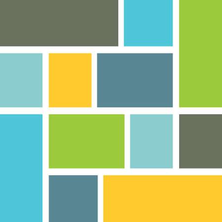 Squares color background vector design Çizim