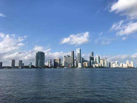 Miami South Florida skyscrapers Downtown skyline and bay Photo picture
