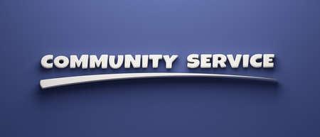 Community Service Headline Writing. 3D Render Illustration banner