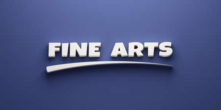 Fine Arts Headline Writing. 3D Render Illustration banner