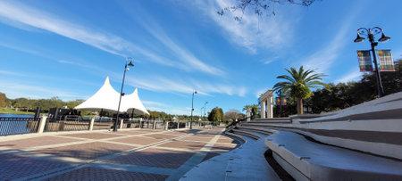 Altamonte - FL: December 2, 2020: Uptown Eddie Rose Amphitheater features stadium-style seating . Photo image