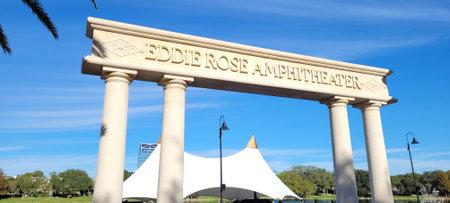 Altamonte - FL: December 2, 2020 Eddire Rose Amphitheater in Cranes Roost Park. Photo image