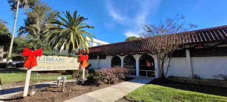 Altamonte - FL: December 2, 2020: Library Altamonte springs entrance. Photo image