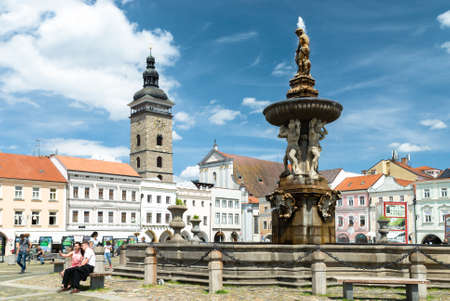 budejovice: Ceske Budejovice central square, czech republic Editorial