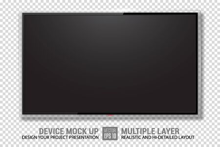 Realistic Television. TV Mockup. Vector Illustration