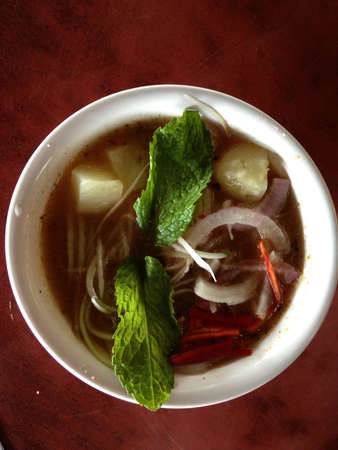 assam: Asian spicy noodle  ASSAM LAKSA