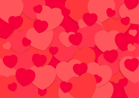 Abstract background vector valentine heart  paper cut pattern