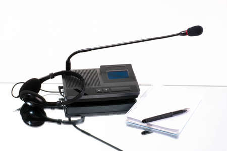 equipment, means for translating languages on a white background