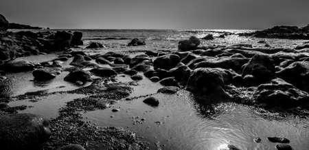 holyday: beach and stone Stock Photo