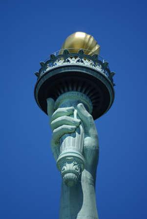 Torch of Statue of Liberty Banco de Imagens