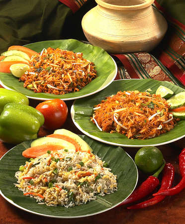 rice noodles: indian traditional food. Stock Photo