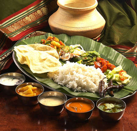 indian traditional food. Stock Photo