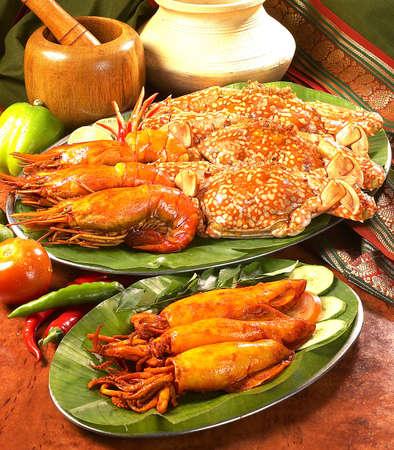 crab pot: indian traditional food. Stock Photo