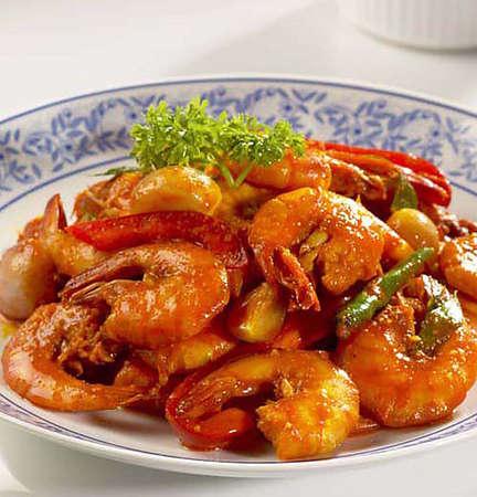 prawn sambal,prawn curry.