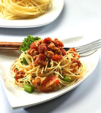 c-pomodoro,spagetti, Stock Photo