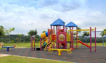play ground.puplic playground. Stock Photo