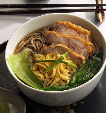 hot soba,meat,noodle,