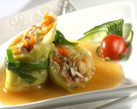 jade roll,green vege,