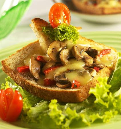 mushroom&chesse,mushroom chesse bread.