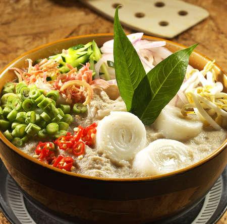 laksam,laksa.koew teow soup. Stock Photo