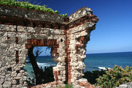puerto rico: Puerto Rico Lighthouse Ruin Near Aguadilla Stock Photo
