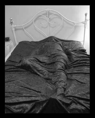 bedspread: Woman Under Bedspread