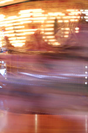 Abstract Blur of Carousel Ride Motion