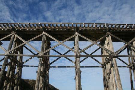 piling: Old Railroad Trestle Fort Bragg California