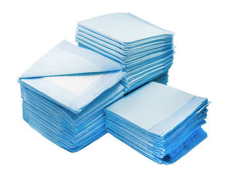 toilet napkins for pets isolated on white background. leak proof pads for pets