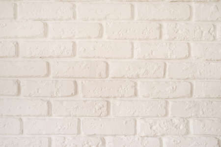 White brick wall texture or background horizontal orientation Reklamní fotografie