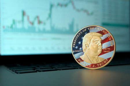Trump gold coin make America great again Editorial