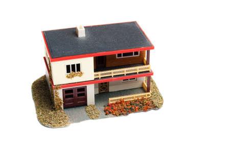 toy house isolated on white background Stock Photo - 9723032